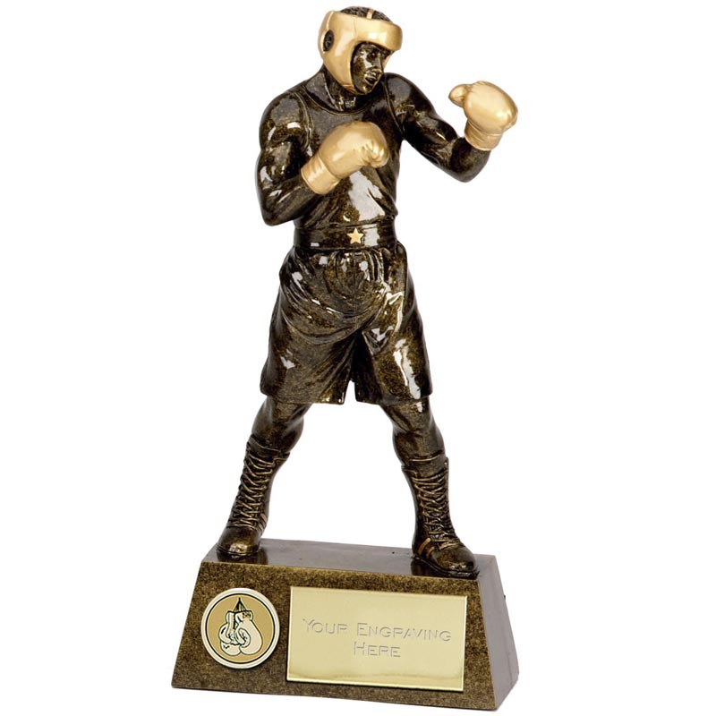 11 Inch Gloves up Boxing Pinnacle Statue