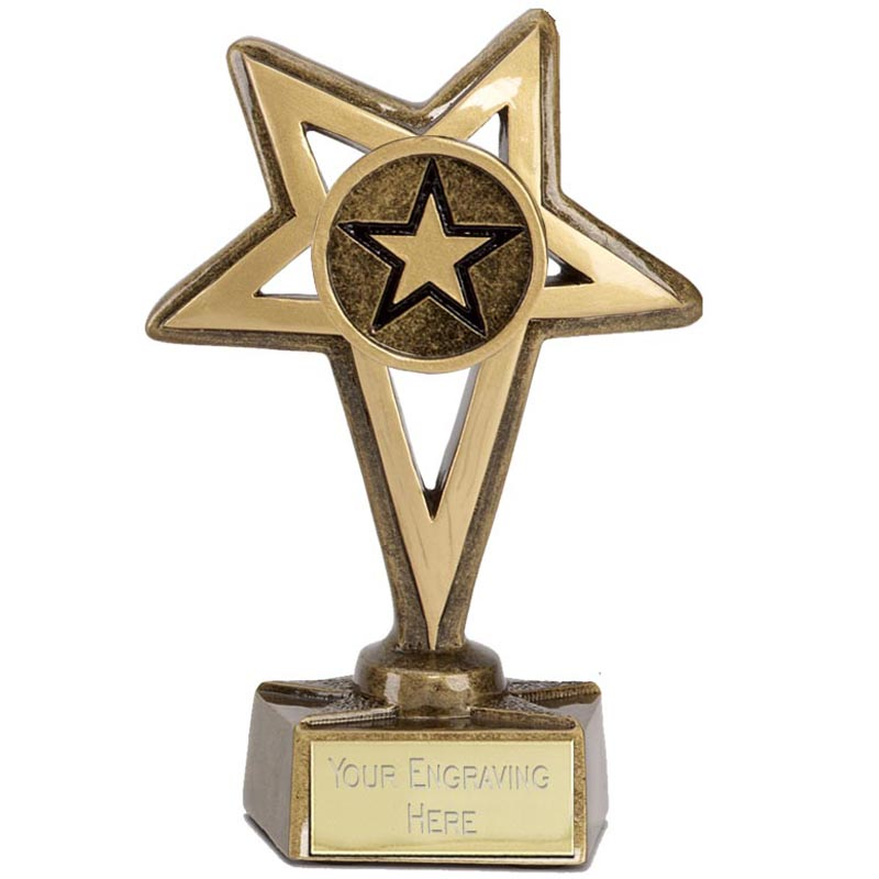 5 Inch Gold Europa Star Award