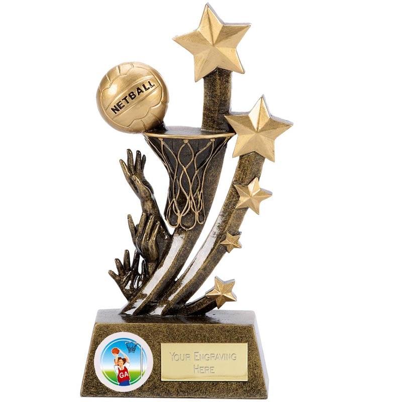 5 Inch Net & Ball Netball Sentinel Award