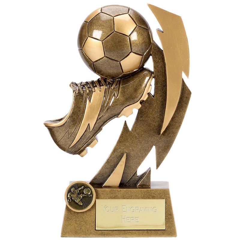 9 Inch Boot & Ball Football Flash Statue