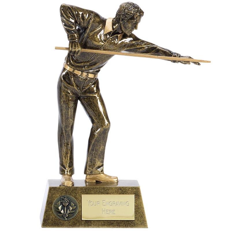 10 Inch Taking the shot Snooker & Pool Pinnacle Statue