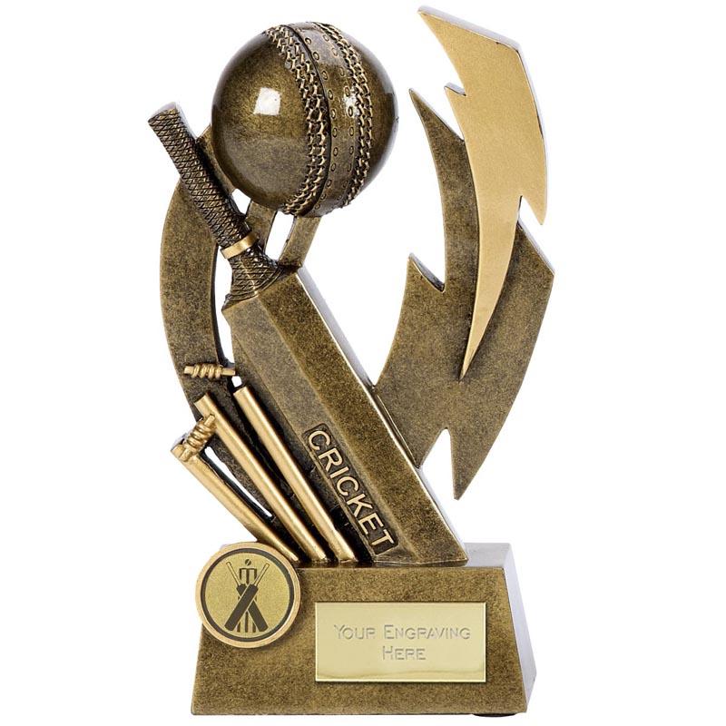 6 Inch Smashed WIcket Cricket Flash Award