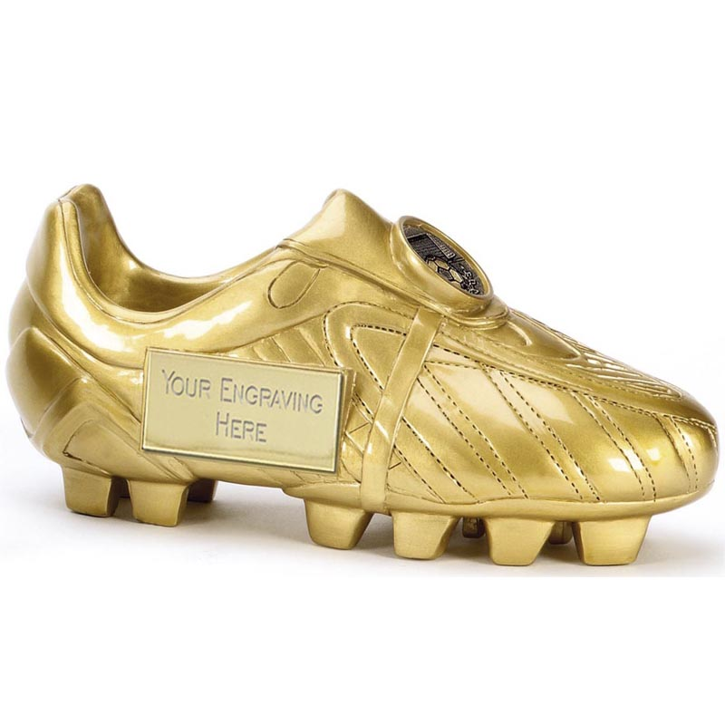 5 Inch Gold Boot Football Premier 3D Award