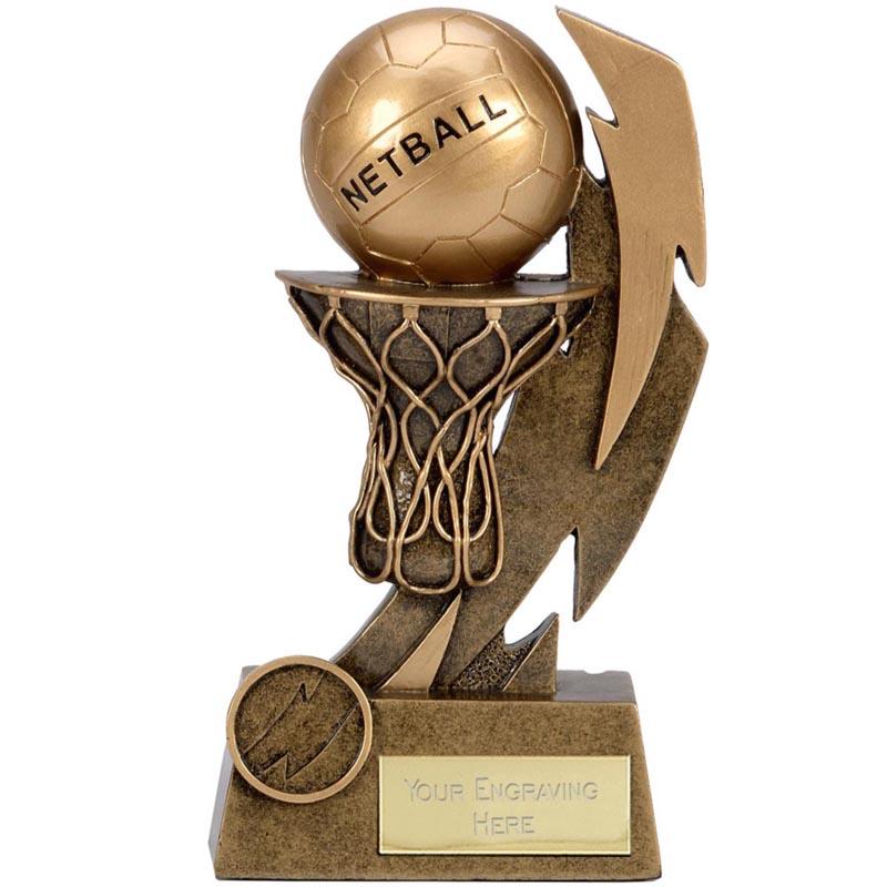 5 Inch Net & Ball Netball Flash Award