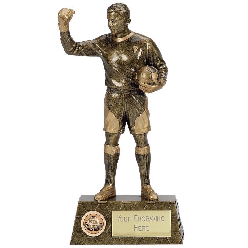 9 Inch Goalie Football Pinnacle Statue