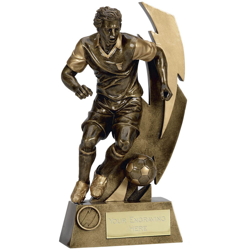 11 Inch Striker Football Flash Statue