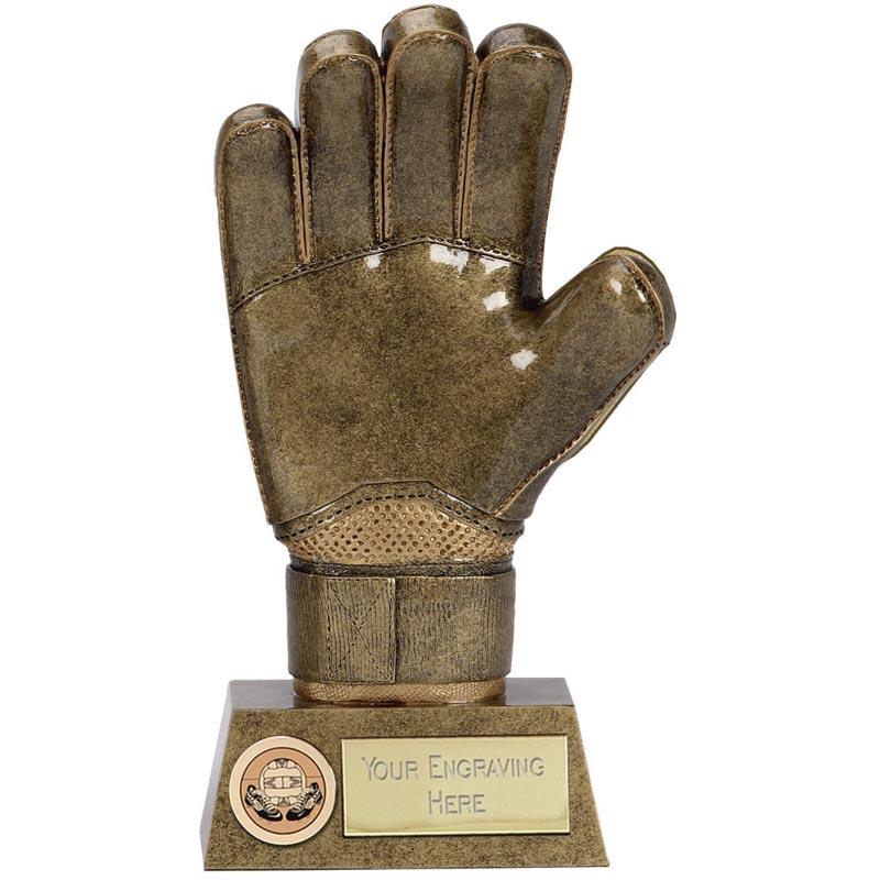 9 Inch Goalie Glove Football Pinnacle Statue