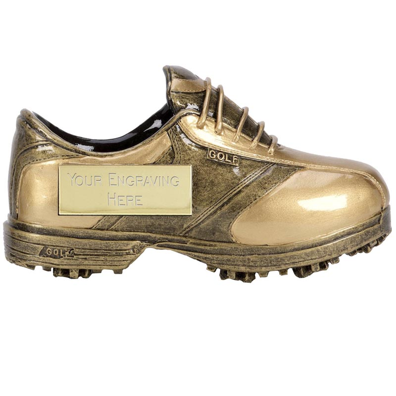 5 Inch Plaque on Shoe Golf Premier Sculpture