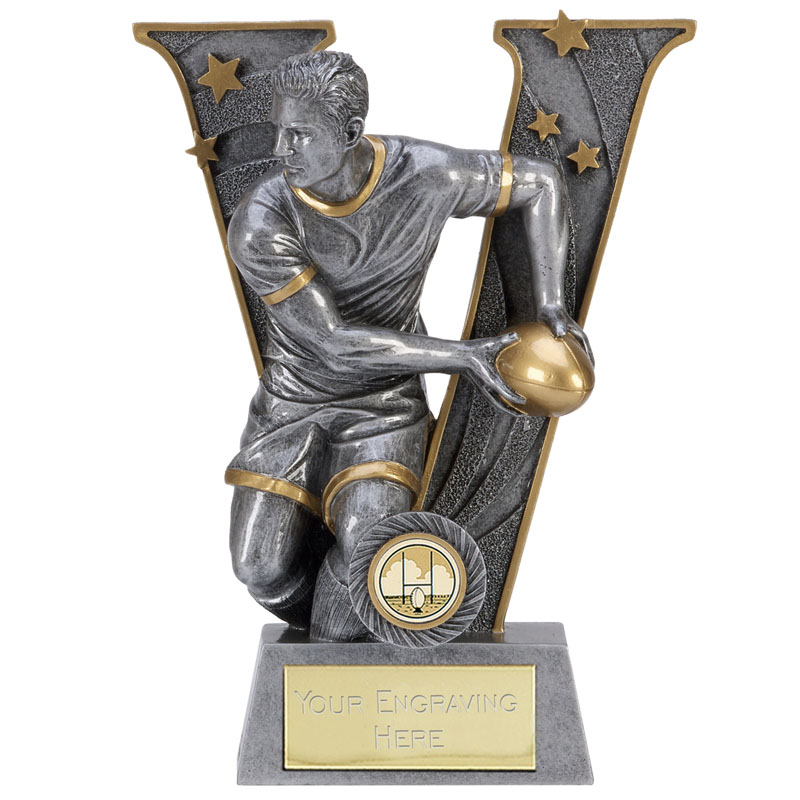 10 Inch Pass Rugby V Series Award