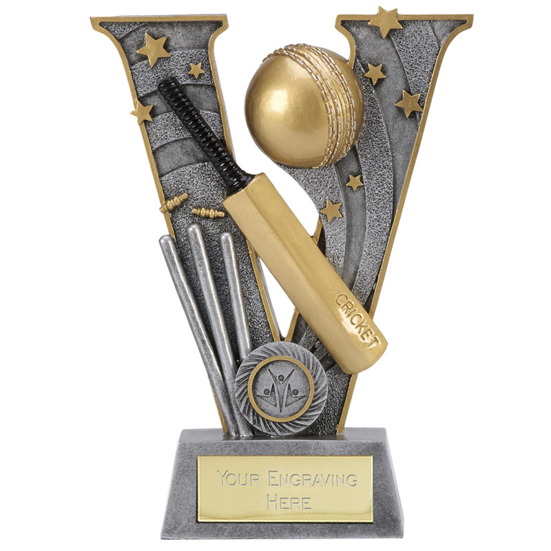 6 Inch Bat & Ball Cricket V Series Award