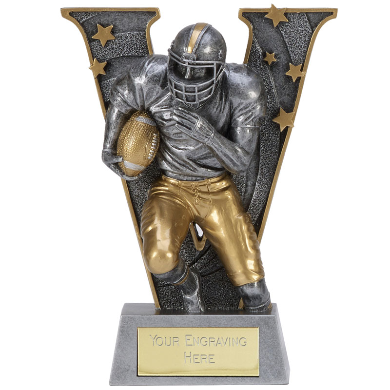 5 Inch Sprinting American Football V Series Award