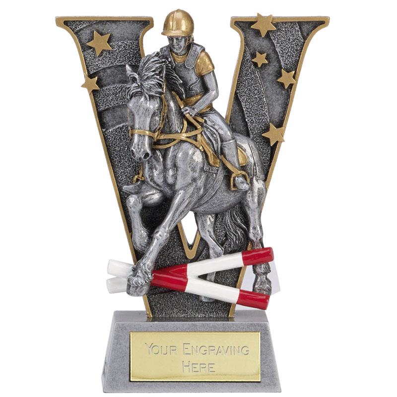 5 Inch Jumping Hurdles Horse Riding V Series Award