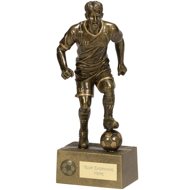 11 Inch Ball Control Football Rise Up Statue