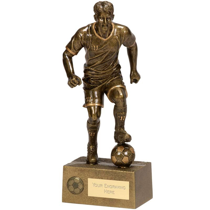 12 Inch Ball Control Football Rise Up Statue