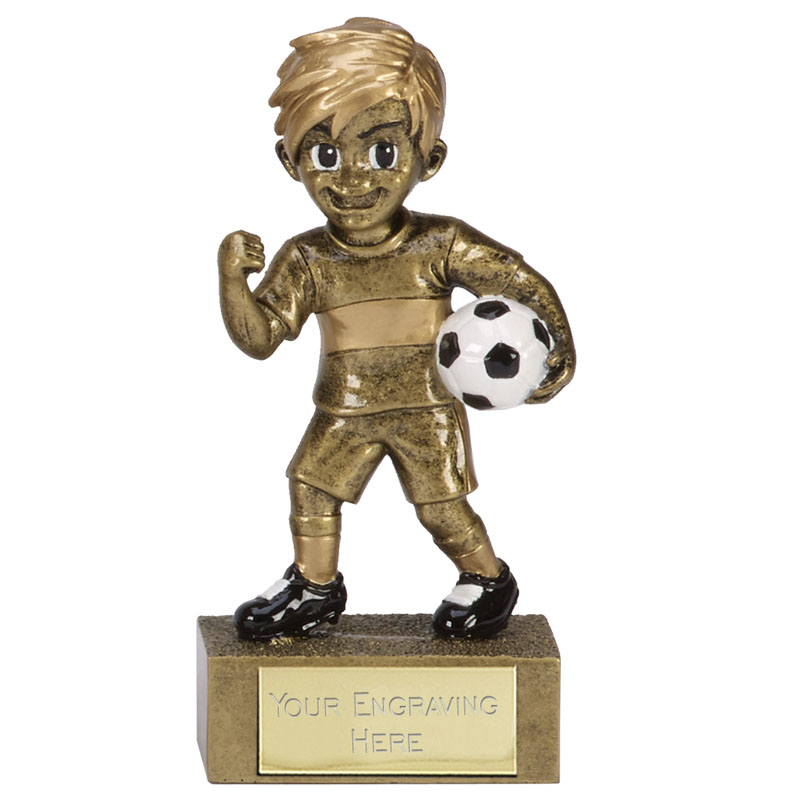 5 Inch Celebration Boy Football kidz Mini Statue