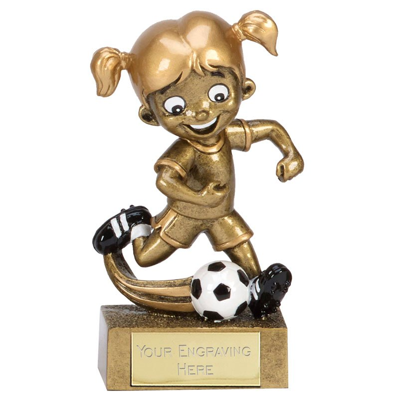 5 Inch Action Girl Football kidz Mini Statue