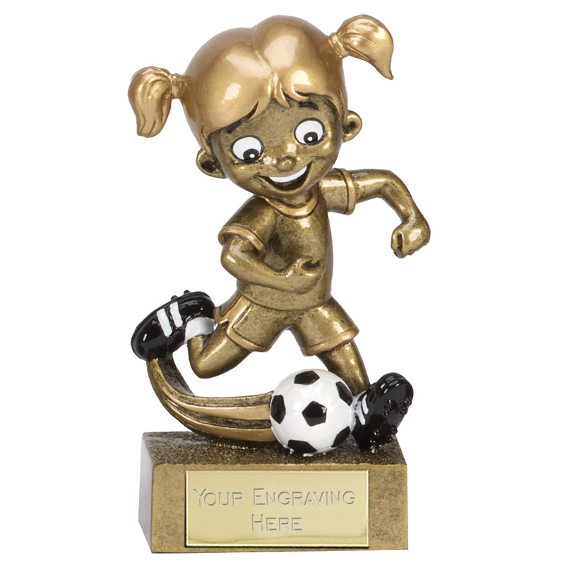 5 Inch Action Girl Football kidz Mini Statue