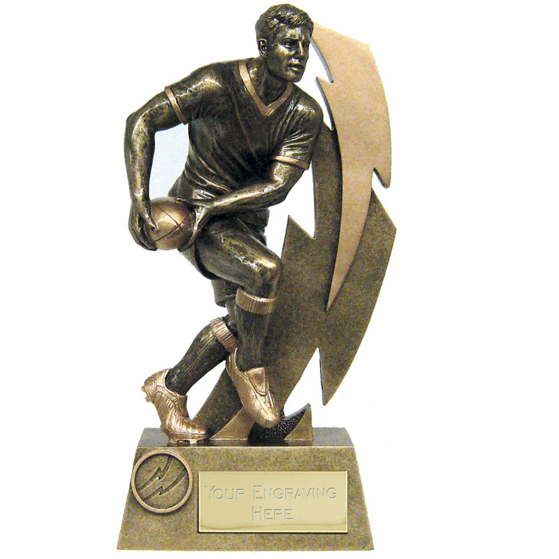 7 Inch Pass Rugby Flash Statue