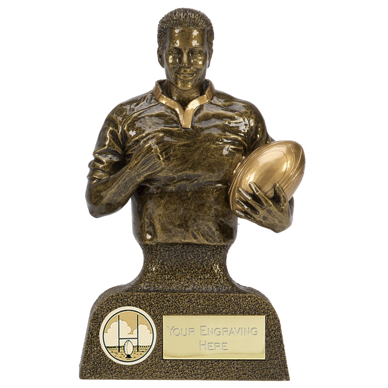 7 Inch Player Bust Rugby Podium Statue