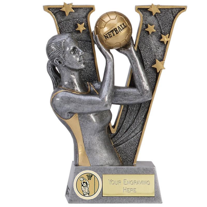 7 Inch Taking the shot Netball V Series Award
