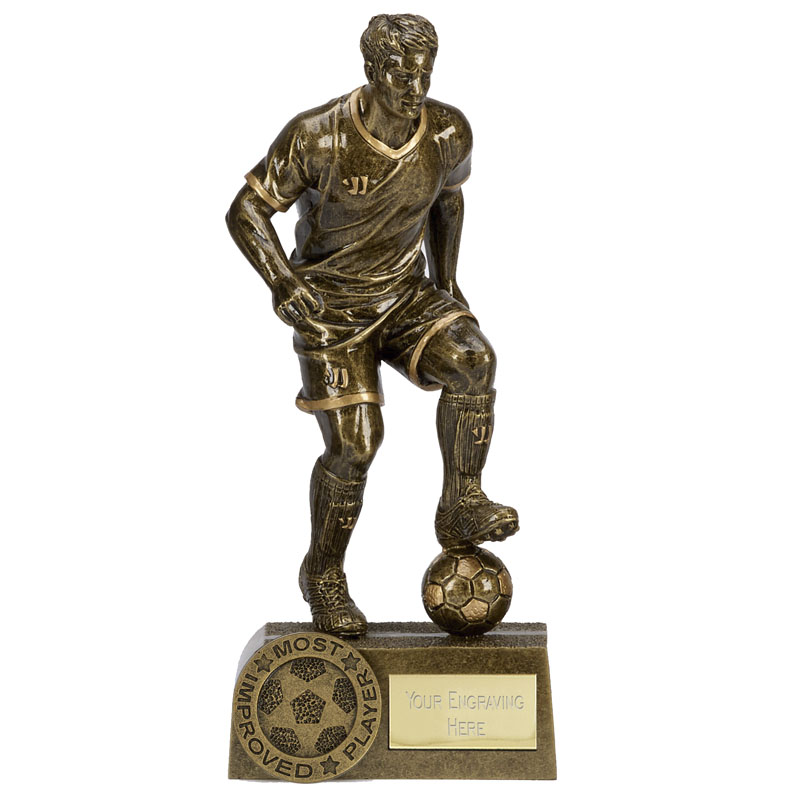 Most Improved Player Football Warrior Statue