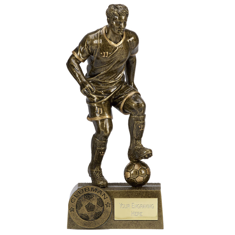 8 Inch Clubman Football Warrior Statue