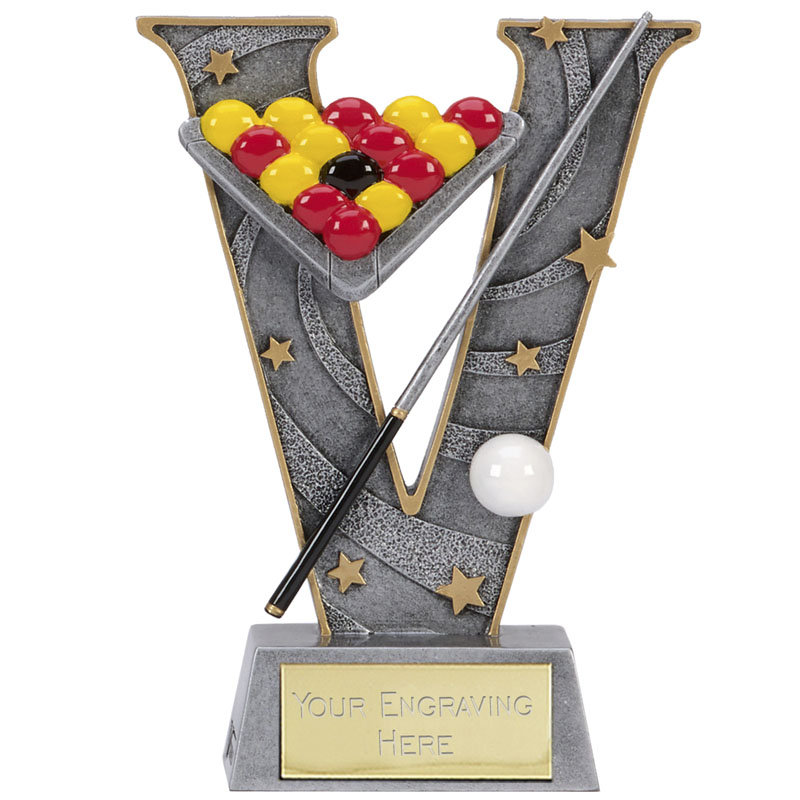 6 Inch Triangle & Cue Snooker & Pool V Series Award