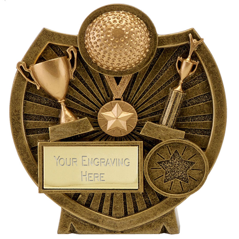 4 Inch Ball & Trophies Hockey Century Shield Award