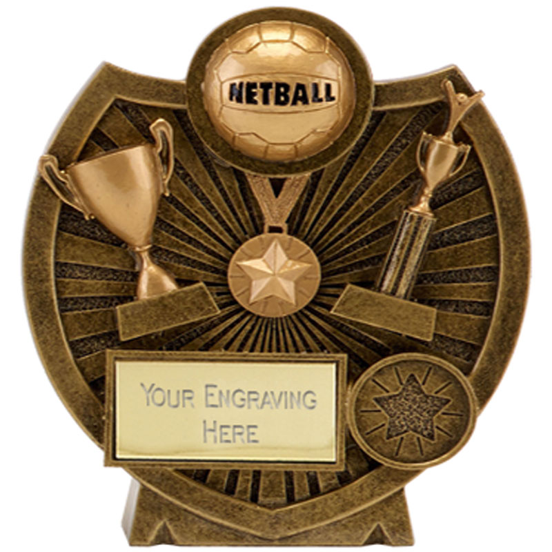 4 Inch Ball & Trophies Netball Century Shield Award