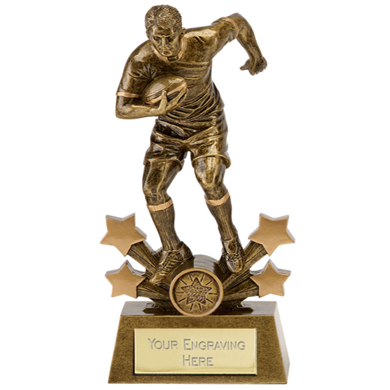 Star Player Rugby Explosion Statue