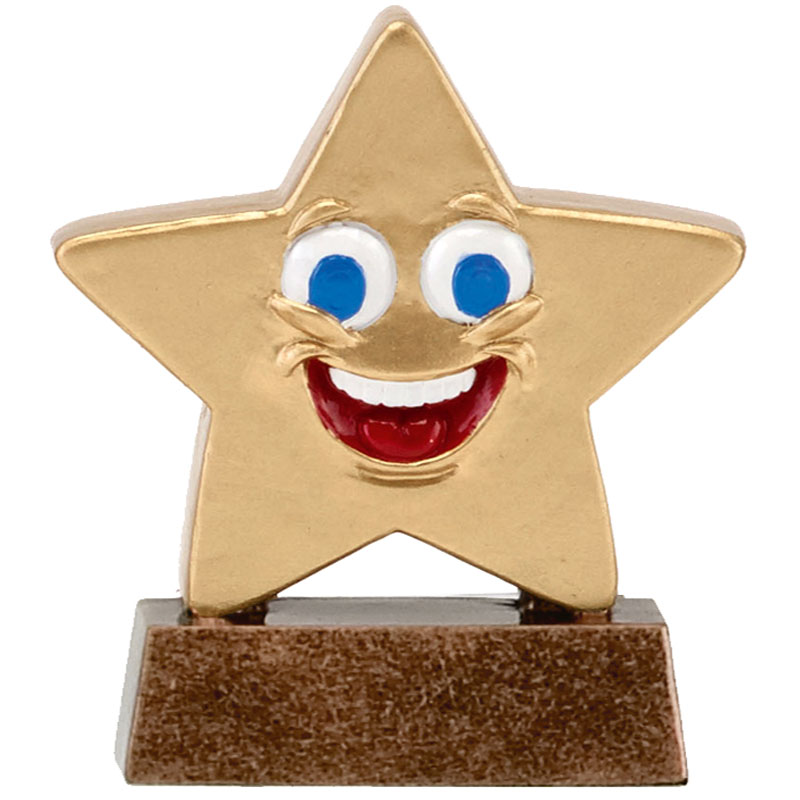 3 Inch Smiley Face Happy Chappie Star Award