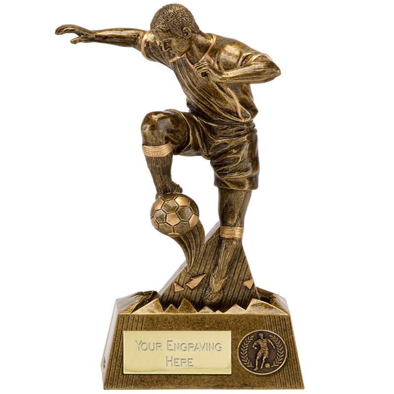 11 Inch Defender Football Pulse Statue