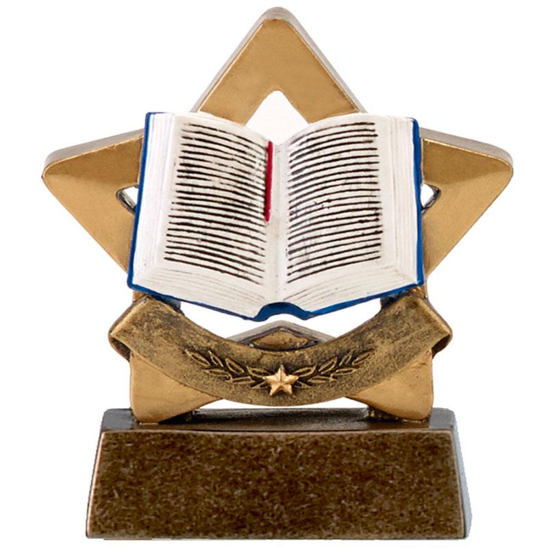 3 Inch Book Reading Mini Star Award