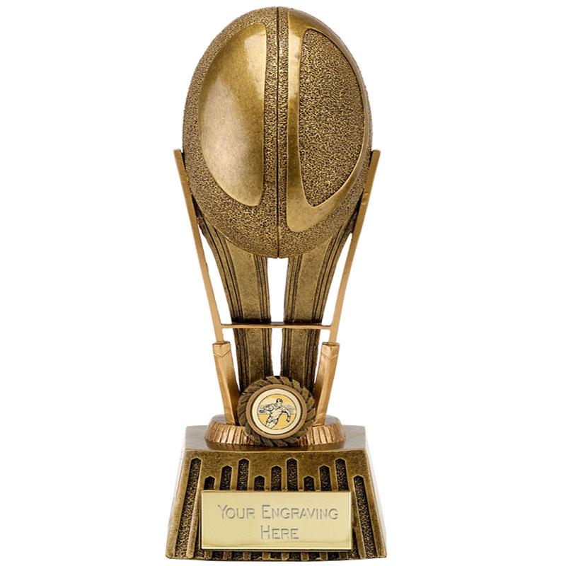 8 Inch High Detail Ball Rugby Focus Award