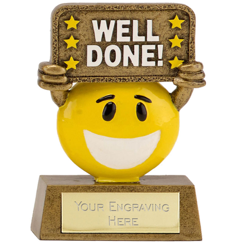 4 Inch Well Done Banner Happy Chappie Award