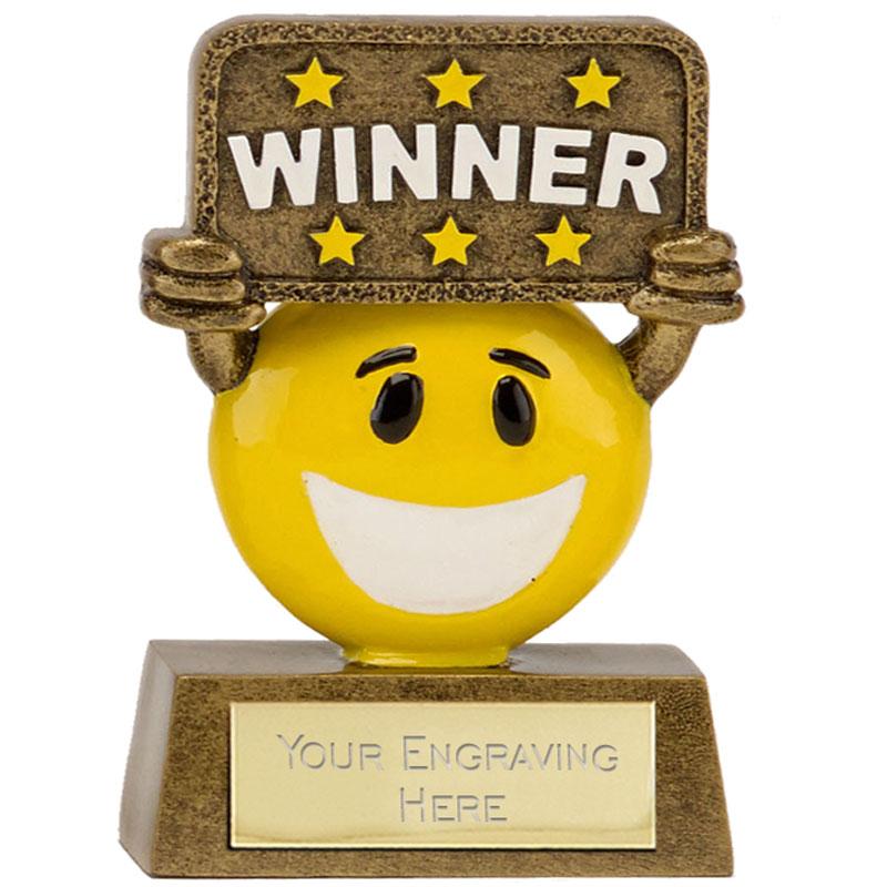 4 Inch Winner Banner Happy Chappie Award