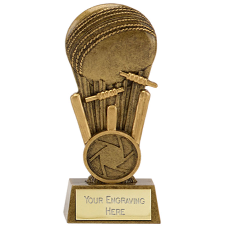 4 Inch Wicket Smash Cricket Mini Award