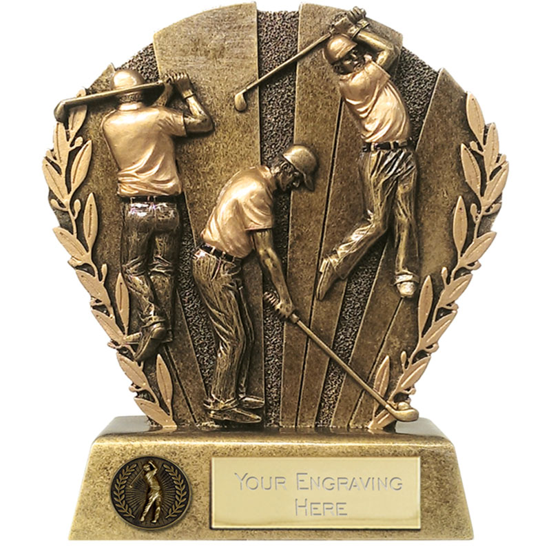 4 Inch Golfing Diorama Golf Direction Diorama Award