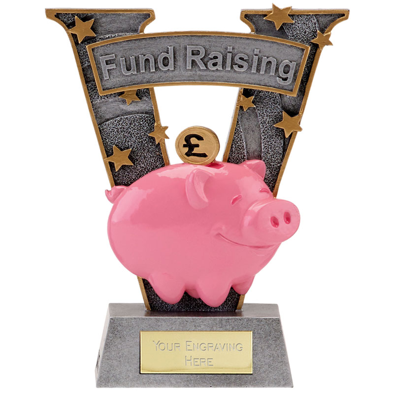 7 Inch Piggy Bank Fund Raising V Series Award