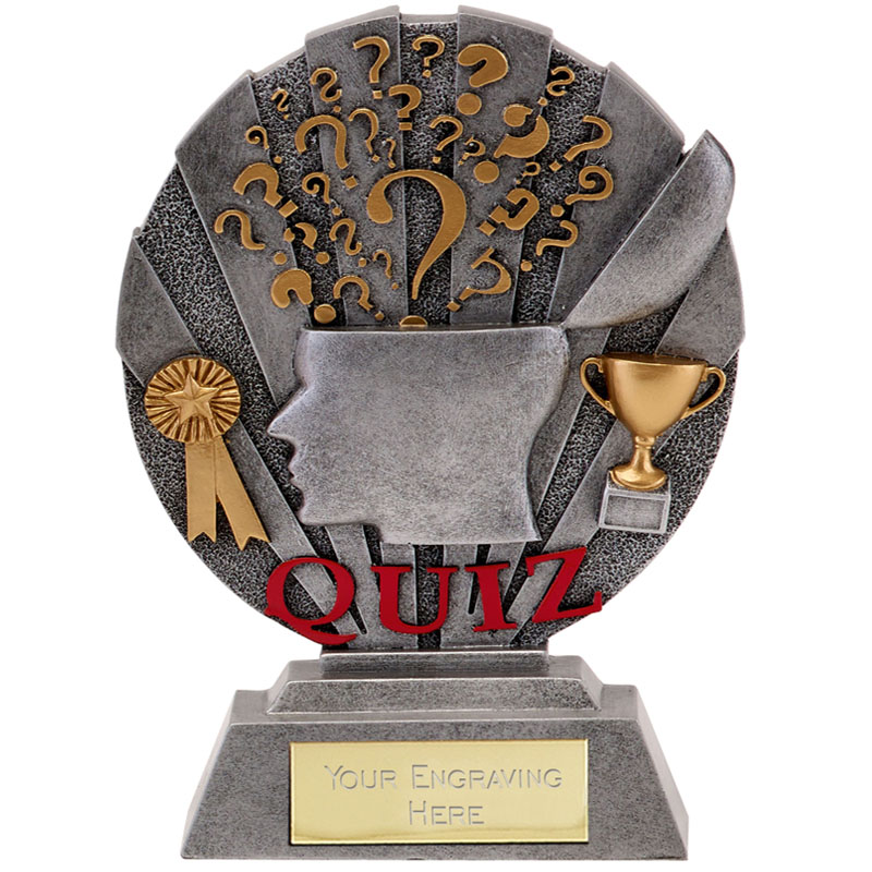 8 Inch Brainiac Quiz Egg Head Award