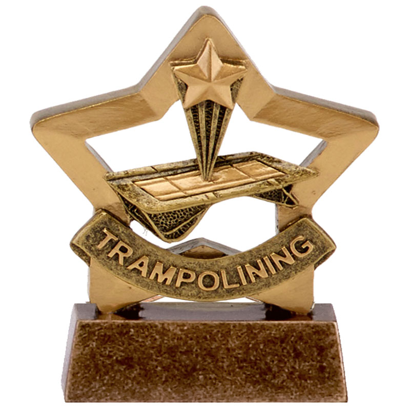 3 Inch Trampolining Mini Star Award