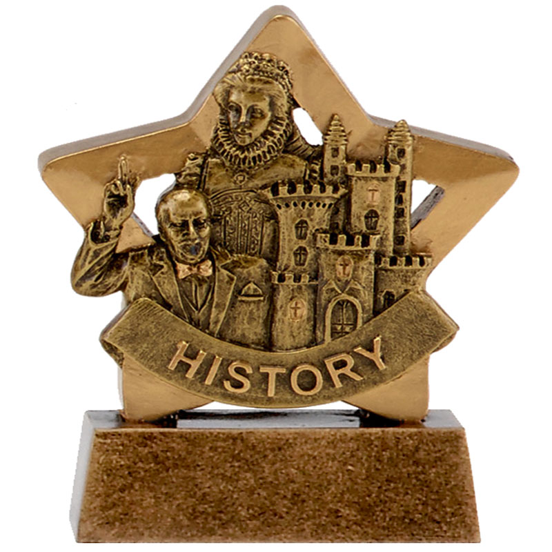 3 Inch History School Mini Star Award