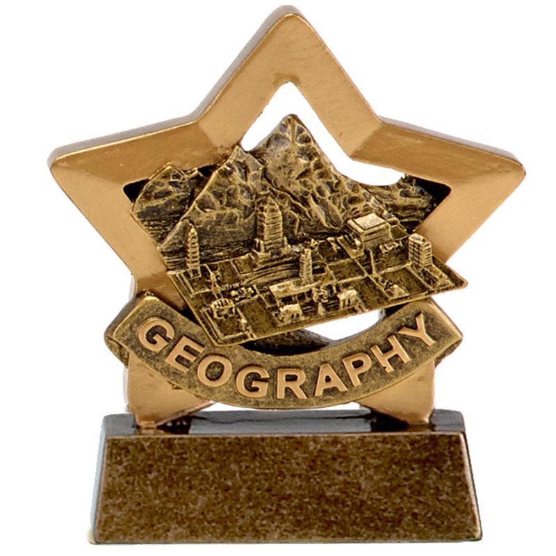 3 Inch Geography School Mini Star Award