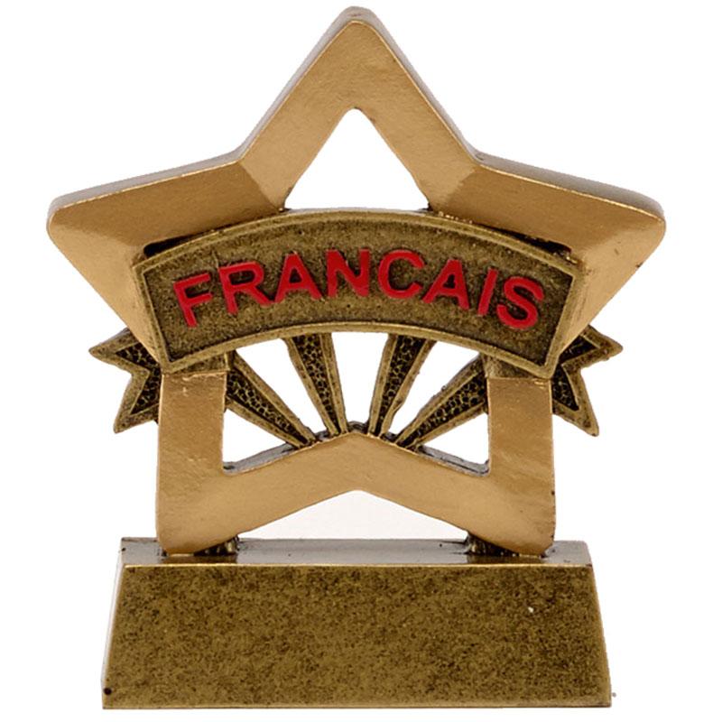 3 Inch French Francais School Mini Star Award