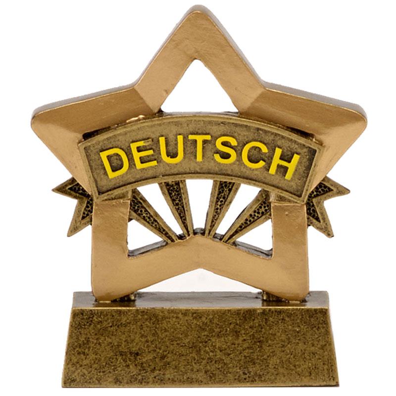 3 Inch Deutsch German German Mini Star Award