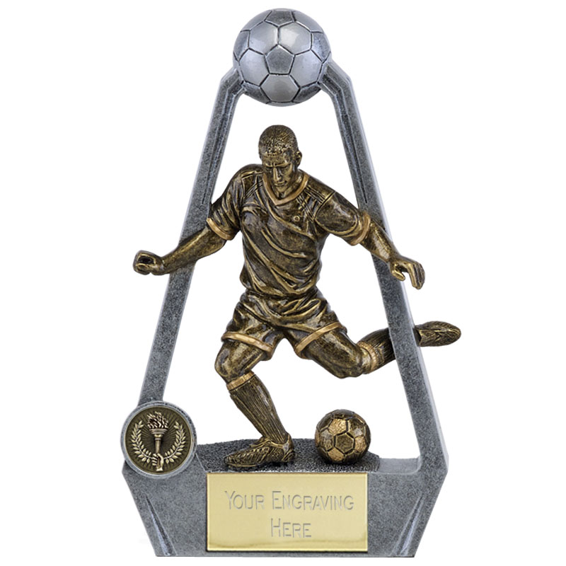 6 Inch striker Football Bling Award