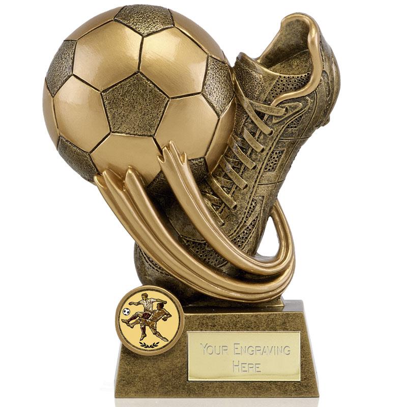 Boot & Ball Swirl Football Epic Award
