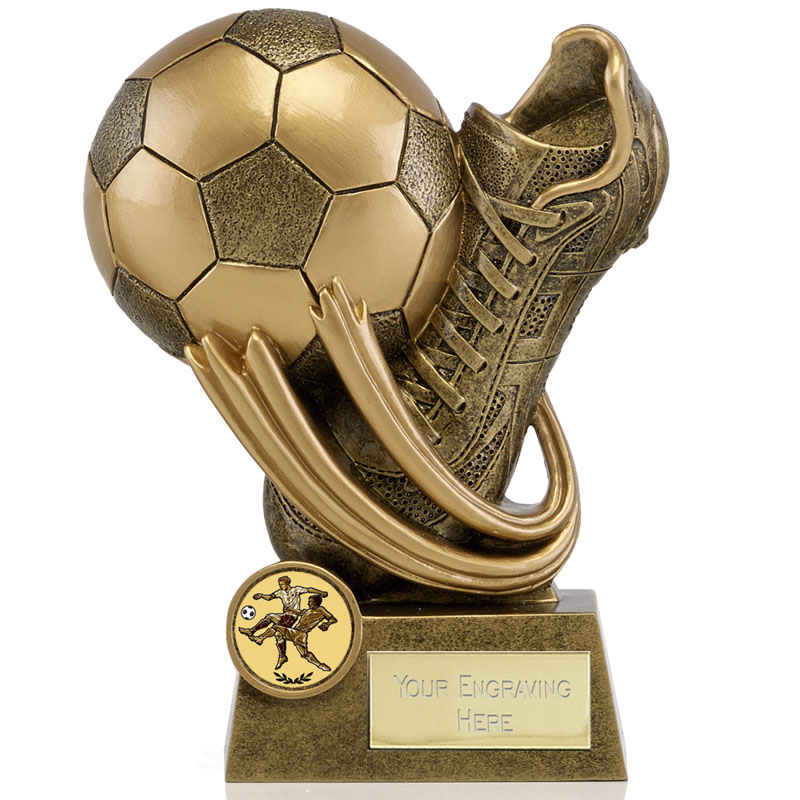 7 Inch Boot & Ball Swirl Football Epic Award