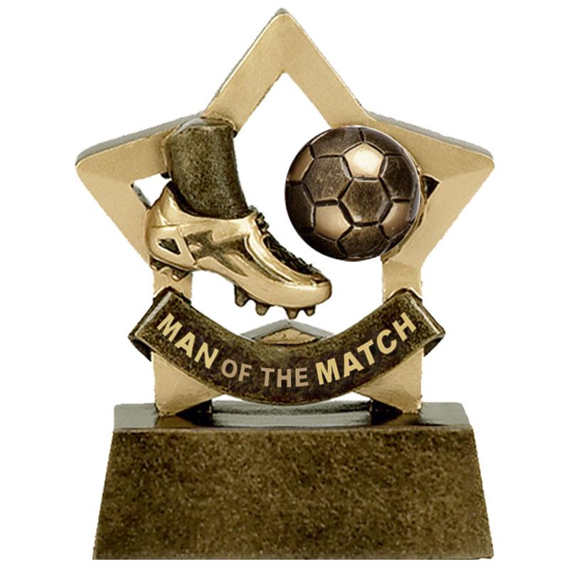 3 Inch Man of the match Football Mini Star Award