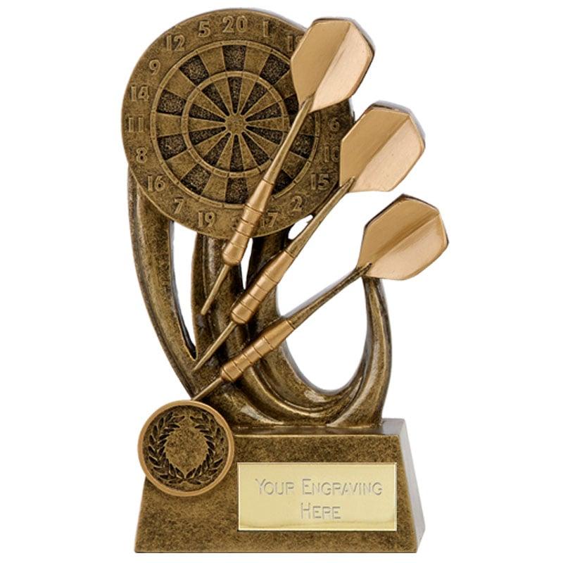 5 Inch Detailed Dartboard Darts Epic Award